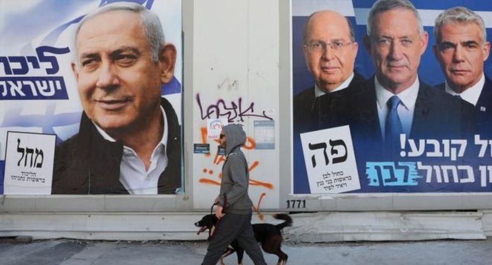 Benjamin Netanyahu busca la reelección en Israel. El ex militar Benny Gantz es su principal rival.