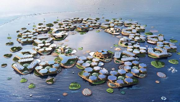 Oceanix City será una isla artificial, ecológica, sostenible y transformable. (Foto: Difusión)