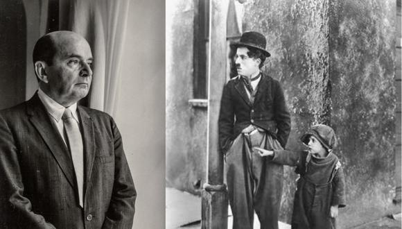 Jorge Basadre, admirador de Charles Chaplin (Foto de Basadre, BNP. Foto de Chaplin, Wikimedia Commons. Composición propia)