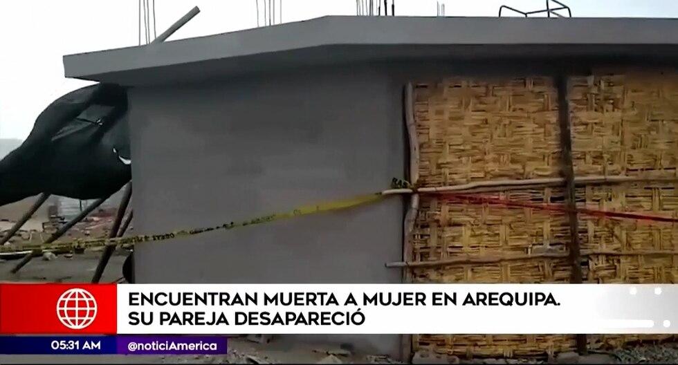 El cuerpo de la víctima fue hallado al interior de su vivienda. La mujer presenta una grave lesión en la cabeza. (Foto captura: América Noticias)