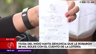 Mujer denuncia el robo de 38 mil soles con el cuento de la lotería