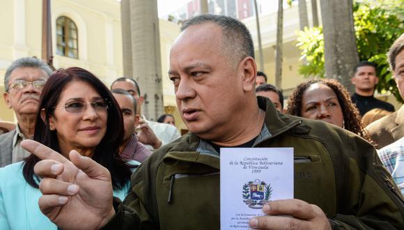 """Diosdado Cabello, expresidente de la Asamblea Nacional y uno de los hombres más cercanos al fallecido Hugo Chávez, tomó represalias contra el diario """"El Nacional"""". (FOTO AFP)."""