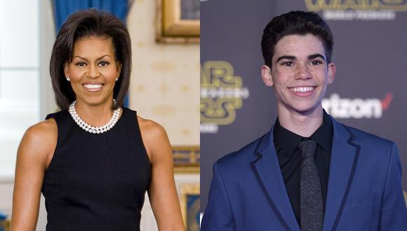 """Michelle Obama había visitado las grabaciones de """"Jessie"""", serie en la que participaba Cameron Boyce. (Foto: Agencia)"""