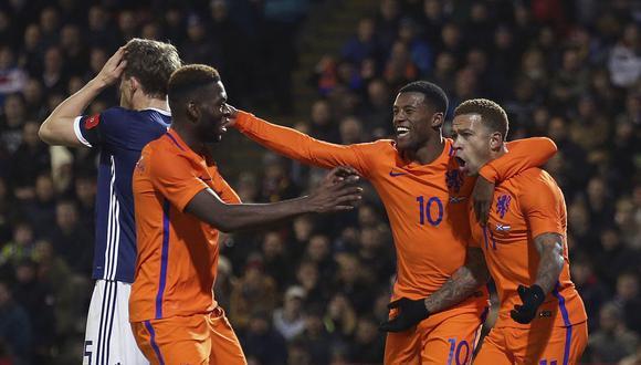 Holanda venció 1-0 a Escocia en amistoso con gol de Depay. (Foto: AFP)