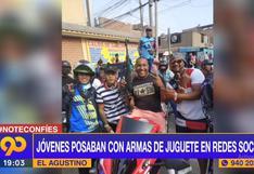 El Agustino: intervinieron a jóvenes que portaban armas de juguete durante grabación de videoclip