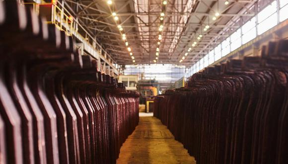 El metal rojo tocó un máximo récord de US$10.747,50 en mayo. (Foto: Bloomberg)