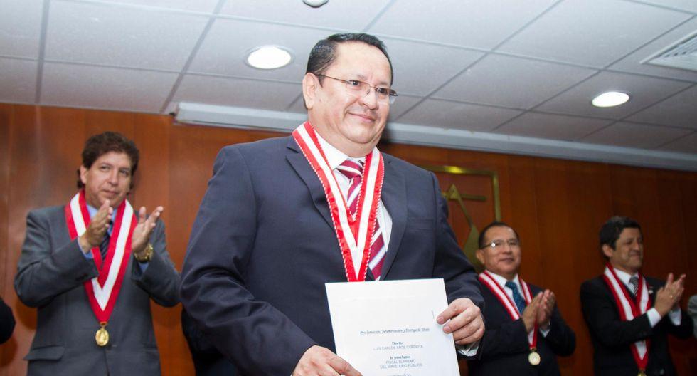 Luis Arce Córdova, quien es fiscal supremo; representa al Ministerio Público ante el Jurado Nacional de Eelcciones. (Foto: CNM)