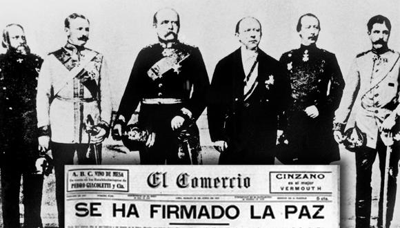 La edición del 28 de junio de 1919 El Comercio dio cuenta de la firma del Tratado de Versalles, documento que le puso final oficial a la Primera Guerra Mundial. (Archivo El Comercio / AFP)