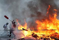 Chile: saqueos y violencia dejan un muerto tras masiva marcha por los 2 años del estallido social | FOTOS