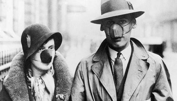 En los 1930, como ahora, no todos creían en los beneficios de cubrirse la boca y la nariz. (GETTY IMAGES)