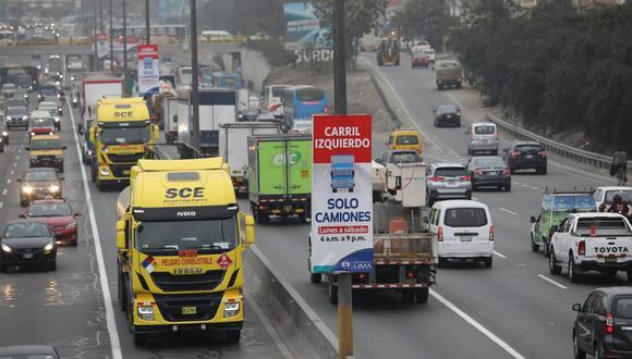 La Municipalidad de Lima sufrió un revés en Indecopi. El plan ' pico y placa' para camiones lo implementó en 2019. (Foto: archivo / Britanie Arroyo/@photo.gec)