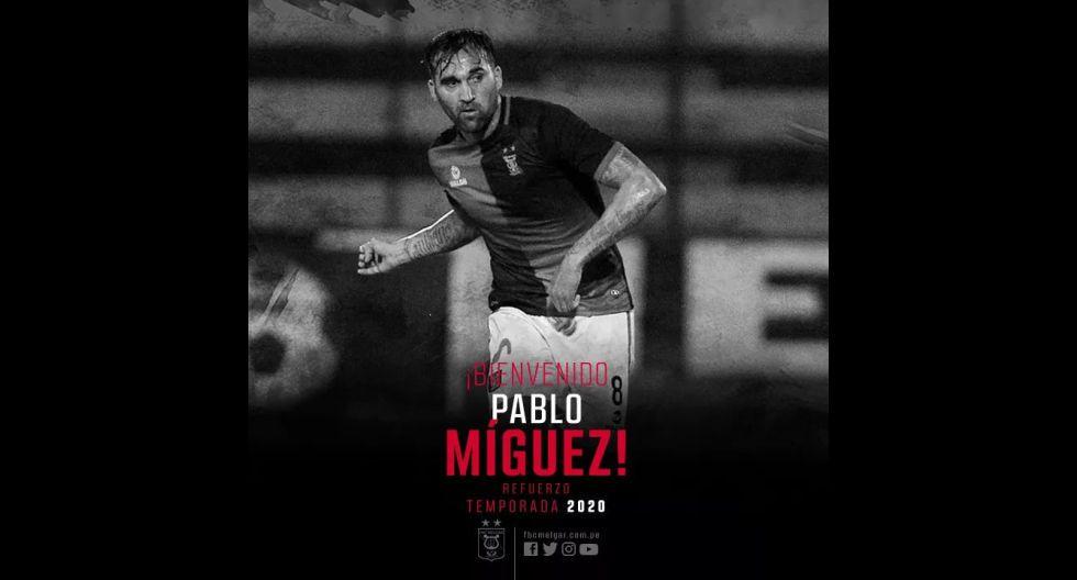 Pablo Míguez procedente de Real Garcilaso. (Foto: Twitter)