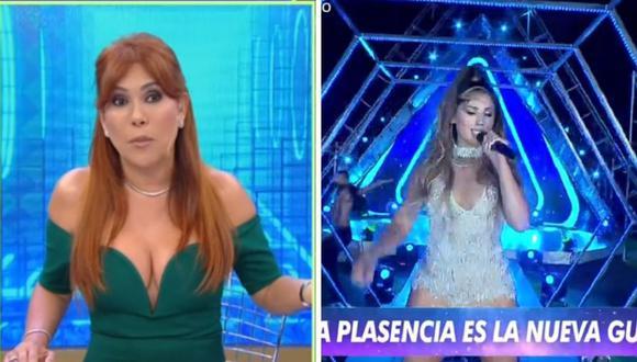 """Magaly Medina se manifestó sorprendida por el regreso de Yahaira Plasencia a """"Esto es guerra"""". (Foto: Captura ATV y América)."""