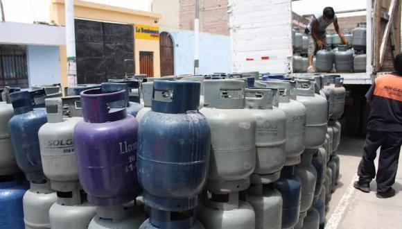Precio del balón de gas de 10 kilogramos tuvo reducción. (Foto GEC)