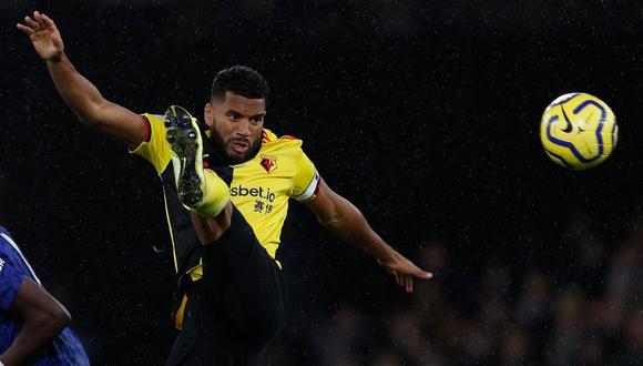 El defensor jamaiquino Adrian Mariappa dio positivo por COVID-19 y es uno de los tres casos que tiene el Watford, el equipo más afectado por el coronavirus en la Premier League. (Foto: AFP).