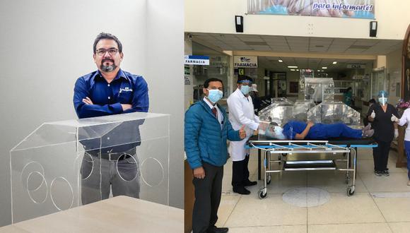 Juan José Milón, junto a su equipo de investigación, desarrolló cubículos de intubación y extubación para pacientes con COVID-19 en estado crítico. Fueron donados a hospitales de EsSalud y Minsa.