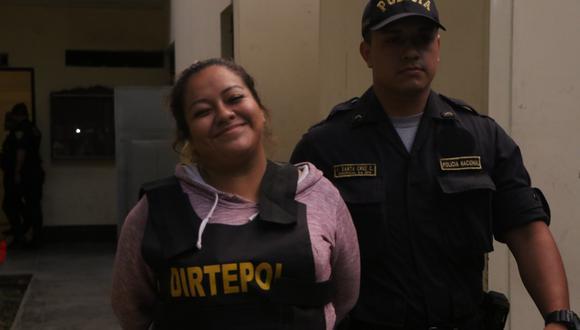 Mileni Natali Gutiérrez Guzmán, tía de 'Gringasho', es una de los cinco detenidos en Trujillo por iniciar balacera contra agentes de la PNP (Foto: Johnny Aurazo).