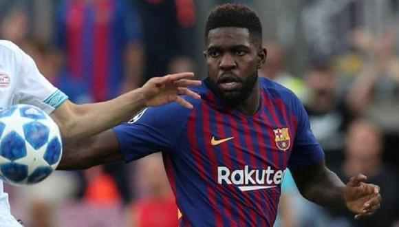 Samuel Umititi volvio a sufrir una lesión en la rodilla y es baja en Barcelona. (Foto: AFP)