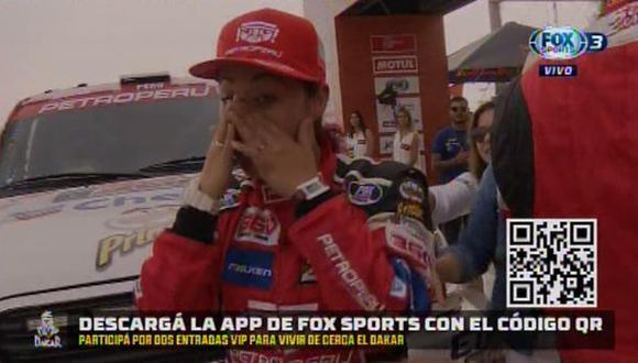 Dakar 2019: Fernanda Kanno se emocionó hasta las lágrimas en la partida simbólica | VIDEO. (Foto: FOX Sports 3)