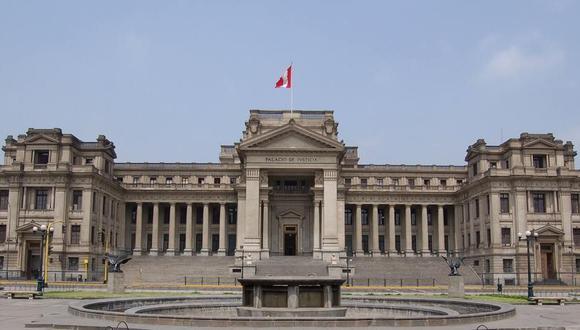 Vista frontal del Palacio de Justicia, en el Centro de Lima. (Poder Judicial)