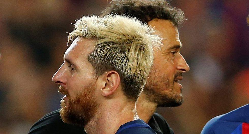 Lionel Messi y Luis Enrique vivieron un momento de tensión en 2015. (Foto: Reuters)