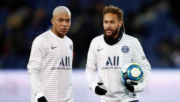 Neymar y Kylian Mbappé son los dos jugadores más valiosos de la plantilla del París Saint-Germain esta temporada. (Foto: AFP)
