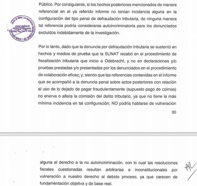 En su demanda, la Sunat niega haber usado información del acuerdo de colaboración eficaz para presentar una denuncia contra los exejecutivos de Odebrecht. (Fuente: El Comercio)