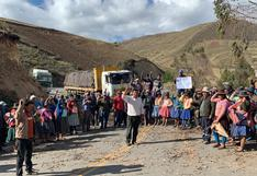 Apurímac: comuneros tienen bloqueada vía Abancay-Andahuaylas desde la semana pasada
