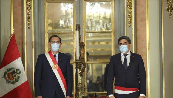 Martín Benavides fue ratificado como ministro de Educación en ceremonia realizada en Palacio de Gobierno. (Foto: Presidencia)