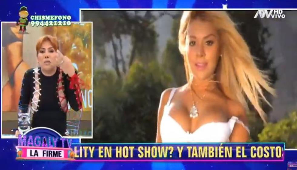 """Magaly Medina compara a la """"Chama"""" con un cactus. (Imagen: ATV)"""