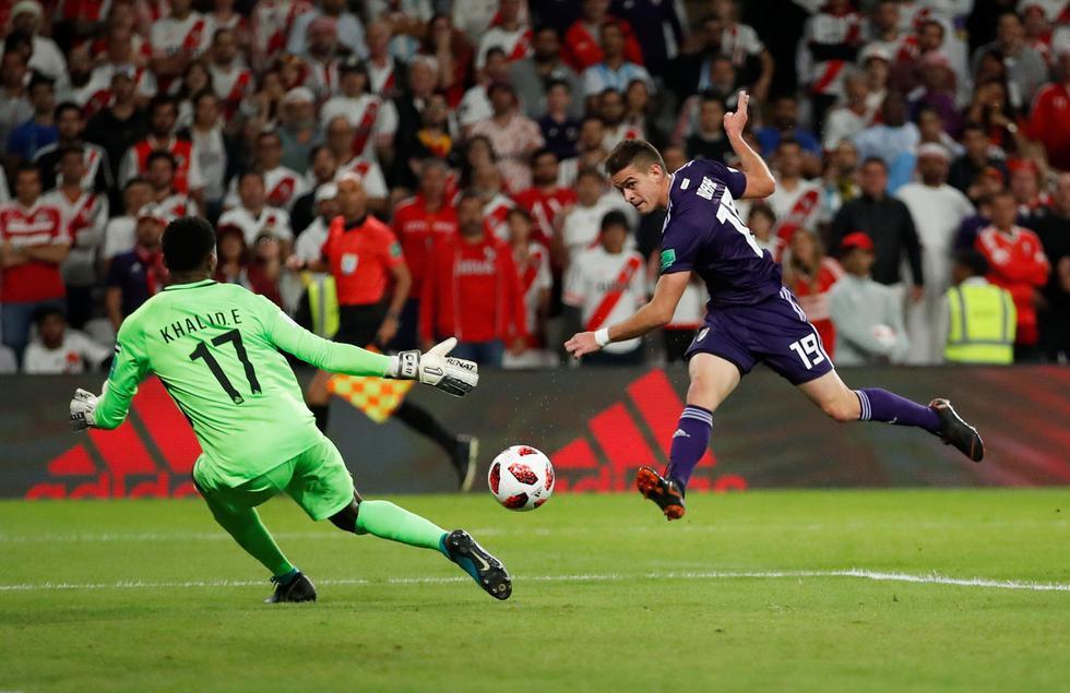 River Plate vs. Al Ain: así fue el gol de Santos Borré para el 2-1. (Foto: EFE/Reuters)