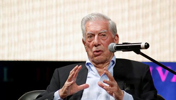 Mario Vargas Llosa en el Hay Festival Arequipa. (Foto: EFE)