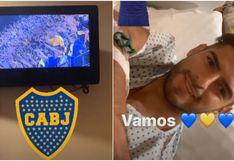 Zambrano vio el partido de Boca desde la clínica: así celebró el gol 'xeneize' y esto le pidieron los hinchas