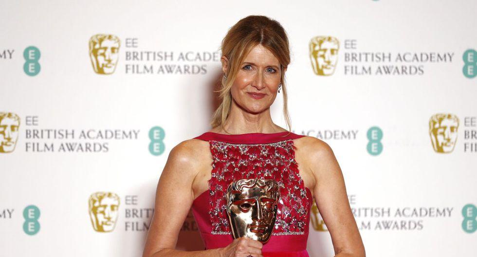 Laura Dern triunfó en BAFTA 2020. (Foto: AFP)