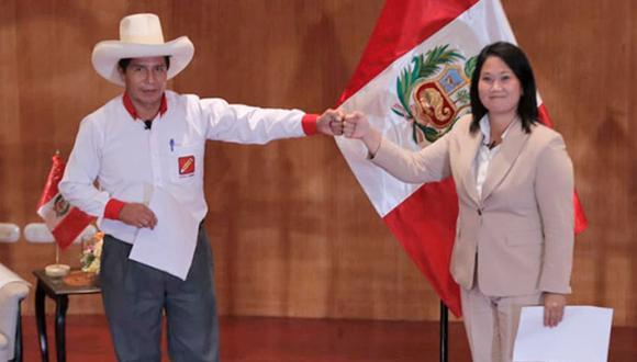 Pedro Castillo y Keiko Fujimori disputan la segunda vuelta electoral. (Foto: Renzo Salazar /@photo.gec)