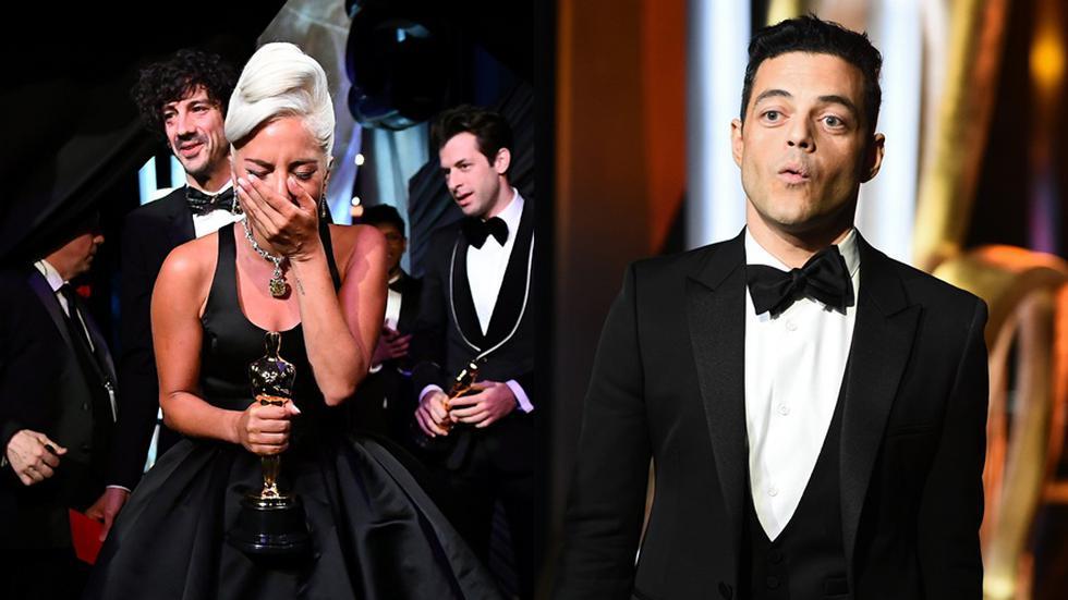 Lady Gaga durante los premios Oscar 2019.