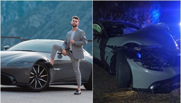 El youtuber Salva estrelló su Aston Martin días después de haberlo comprado. (Foto: @salvaavf / Instagram)