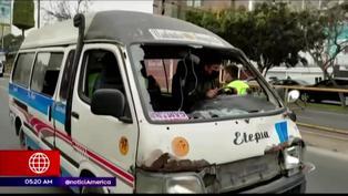 Miraflores: Conductor de combi intentó darse a la fuga y atropelló a joven