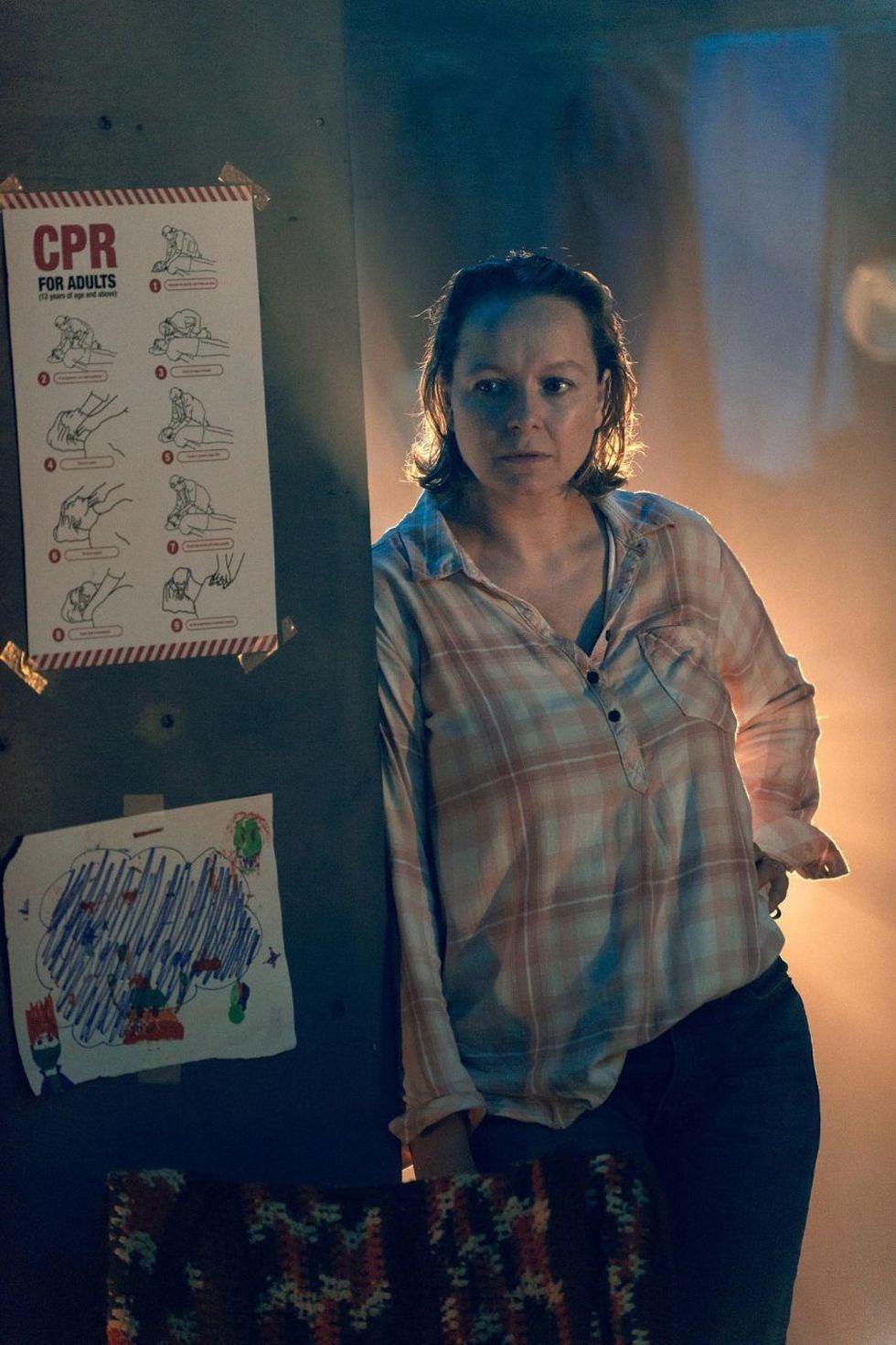 La producción también esta foto de Alpha antes de convertirse en la líder de los Susurradores (Foto: AMC)