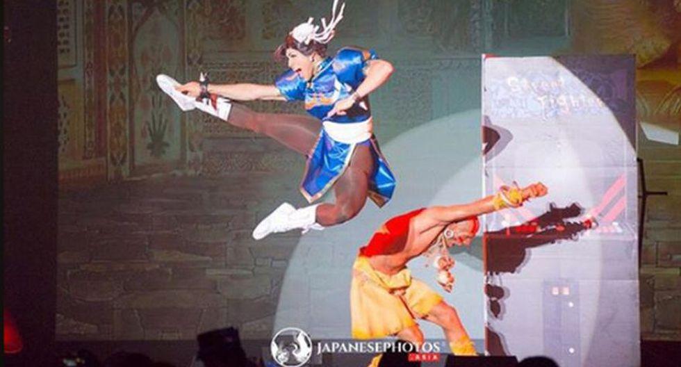La pelea entre Dhalsim y Chun-Li fue decisiva para darle el premio a México. (Facebook/ World Cosplay Summit y Japanese Photos)