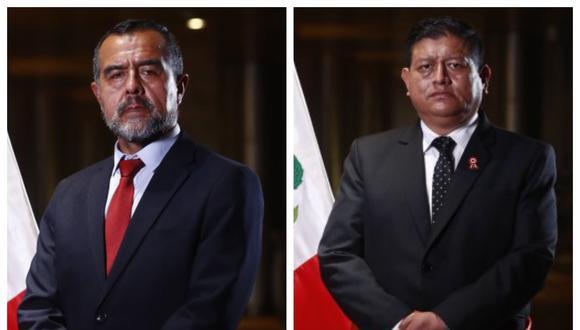 Ministros Iber Maraví (Trabajo) y Walter Ayala  (Defensa) (Fotos: PCM)