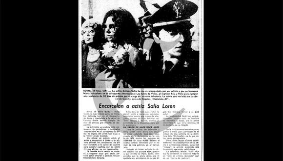Así Ocurrió: En 1982 encarcelan a la actriz Sofía Loren