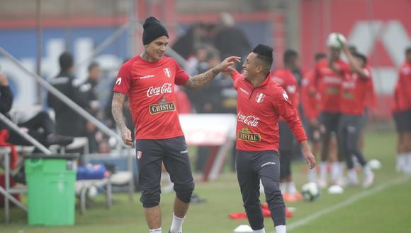 Cueva y Guerrero, dos pilares de la selección nacional. (Foto: Jesús Saucedo)