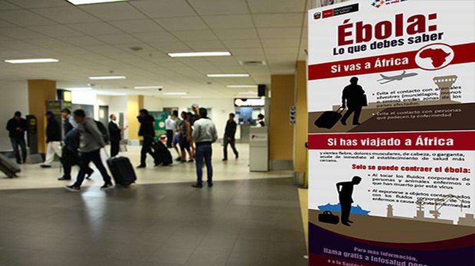 Viajeros que arriban al Jorge Chávez son informados sobre ébola - 1