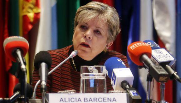 Alicia Bárcena, secretaria ejecutiva de la Cepal. (Foto: EFE).