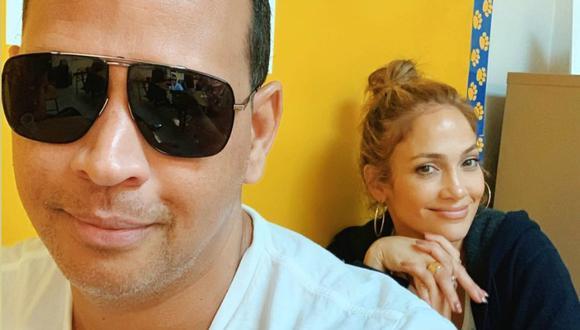 Jennifer Lopez pasó el Día de Acción de Gracias junto a su novio Alex Rodríguez. (Foto: @arod)