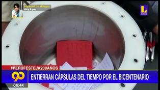 Bicentenario: Entierran cápsulas del tiempo en distintas partes del país