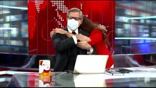 Verónica Linares le da tierno abrazo a Federico Salazar tras haber superado la COVID-19