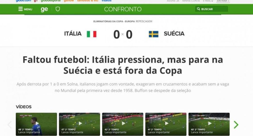 Globoesporte - Brasil. (Foto: captura de pantalla)