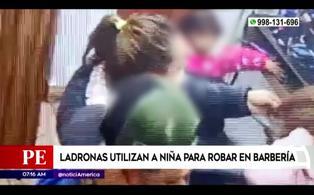 San Miguel: mujeres usaban a niña para robar en barbería
